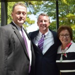 Left to Right: Centra Health President and CEO E.W. Tibbs Jr., Republican gubernatorial nominee Ed Gillespie, Sheltering Arms Hospital President and CEO Mary Zweifel