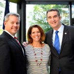 Left to Right: Sentara Healthcare Vice President of Government Relations and Health Policy Paul Speidell, Inova Health System Vice President of Government Relations Jennifer Siciliano, Democratic gubernatorial nominee Lt. Gov. Ralph Northam